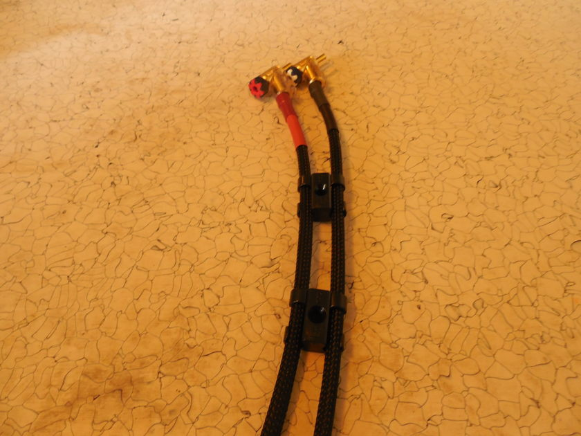 3 Meter SILVER Speaker Cables  Black Shadow WBT Bananas