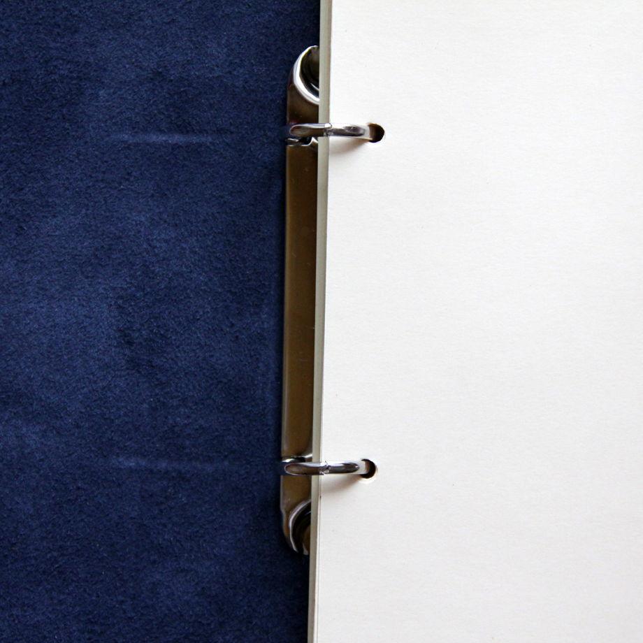 Кожаный блокнот А5 синий