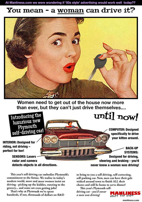 Would '1950s style' advertising work today? Self-driving cars