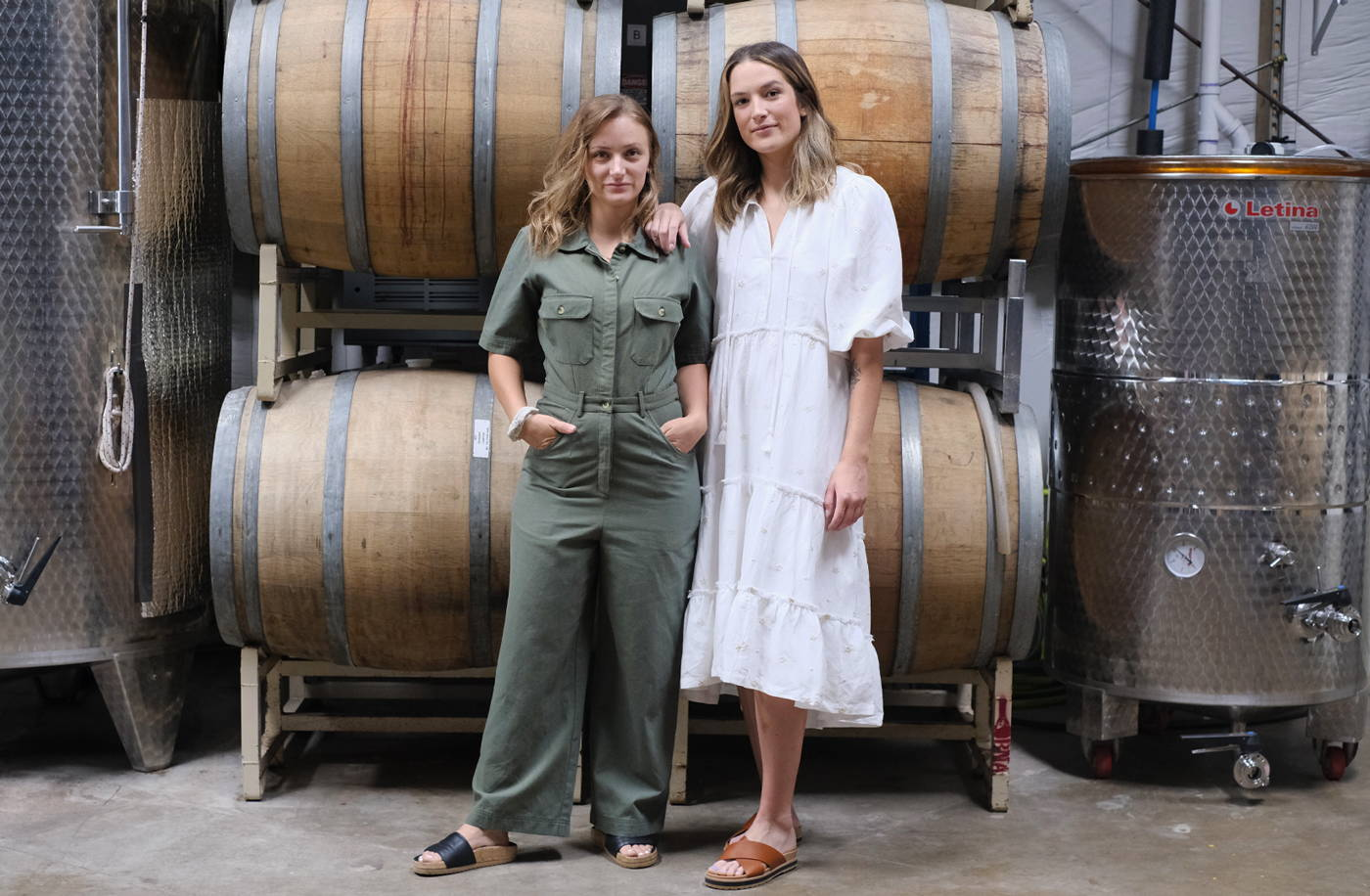 Women winemakers Adrienne and Ashlyn of The Austin Winery