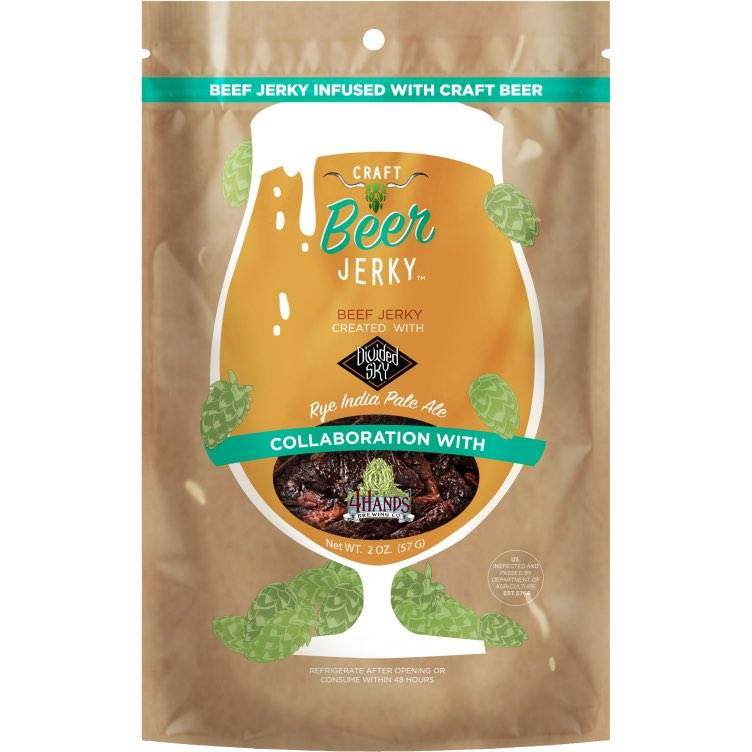 Craft beer infused beef jerky by Craft Beer Jerky