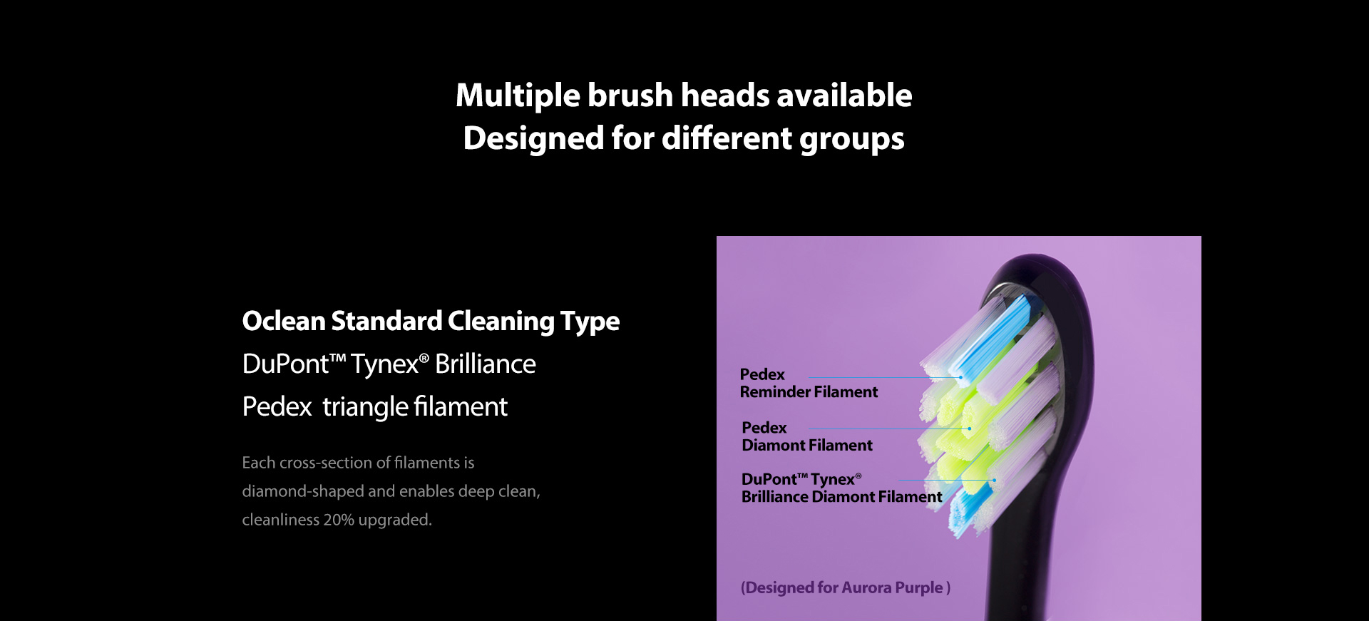 oclean standard cleaning type