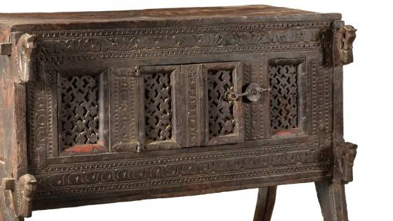 An antique Indian Damchiya dowry chest from Gujarat
