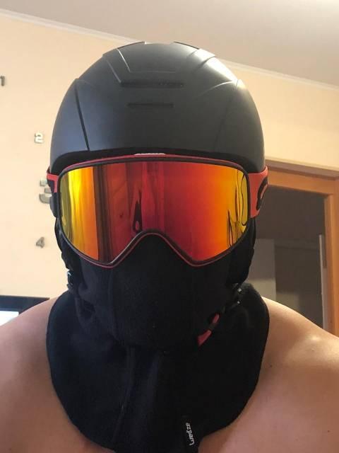 casque trottinette electrique hiver avec lunette