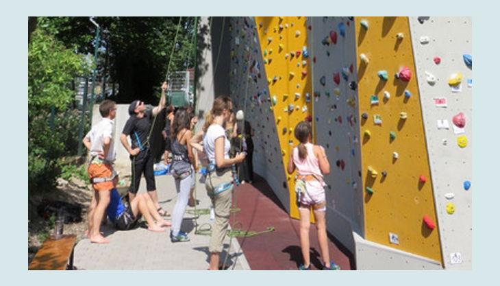 bester geburtstagde kletterzentrum frankfurt am main dav kletterwand außenwand cam sonnenschein