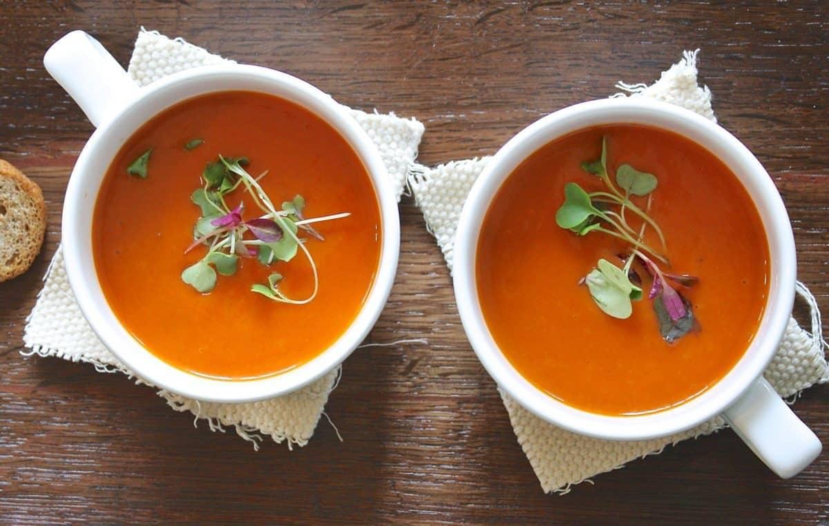vegetable stem soup to reduce food waste