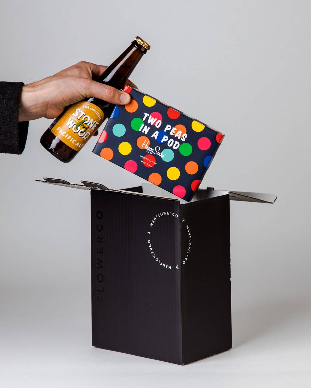 Sock Gift + Beer, part of Manflower Co's range of Father's Day Gifts.