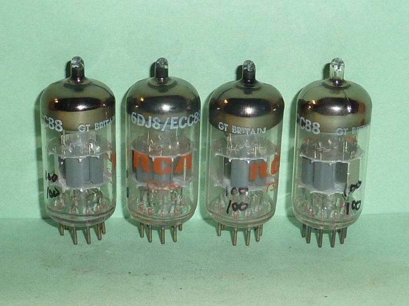 Mullard 6DJ8 ECC88 Tubes, Matched Quad, NOS, NIB, Matched Codes