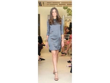 Olivine Gabbro Silk Shift Dress