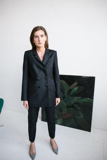 Черный костюм, натуральная итальянская ткань
