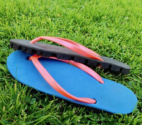 recycled car tyre shoe sole and flip flop