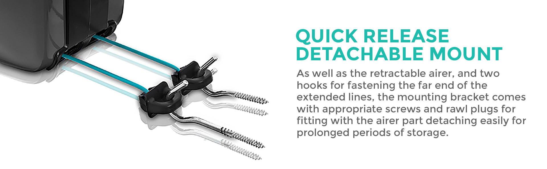 Quick-release detachable mount