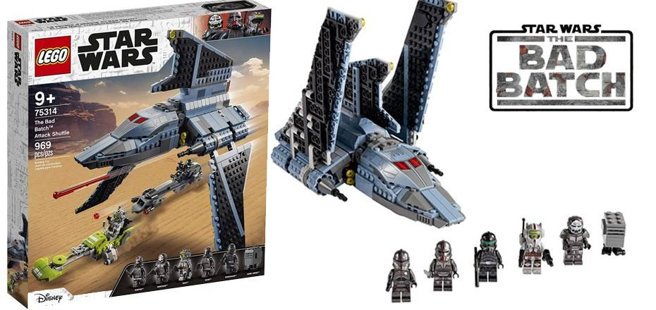 11. Lego Star Wars The Bad Batch Attack Shuttle set.