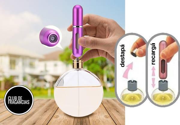 Perfumero Portátil Recargable de 5ml para transportar perfumes y fragancias.