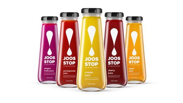 Widarto Impact creating brand design & packaging for JOOS STOP! Juice drink