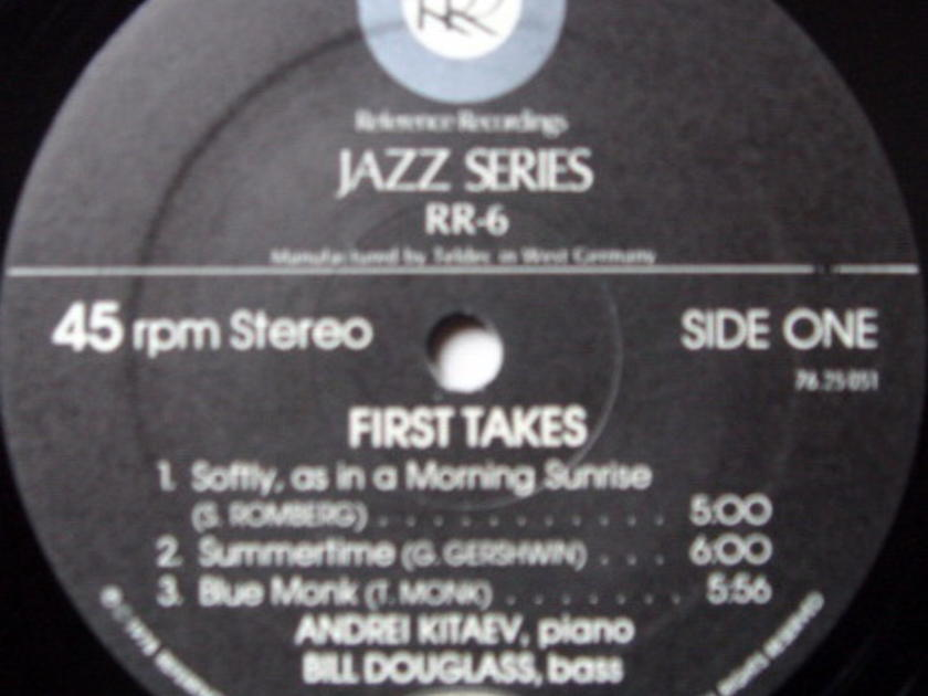 ★Audiophile 45RPM★ Reference Recordings / KITAEV-DOUGLAS, - First Takes NM-(OOP)!