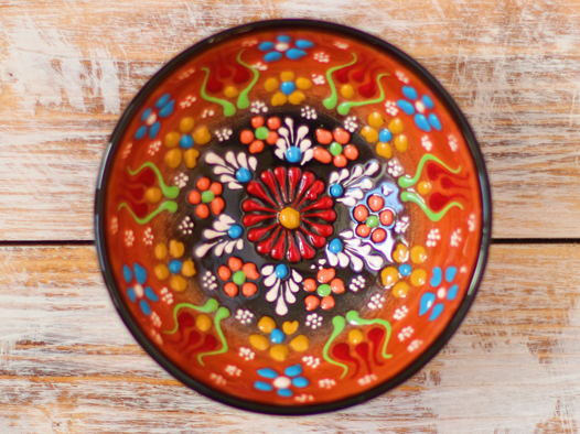 Маленькая керамическая пиала (оранжевая)