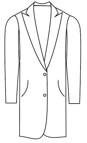 Tailormate   klassisk jakke eller frakke med spidsrevers, klassisk look