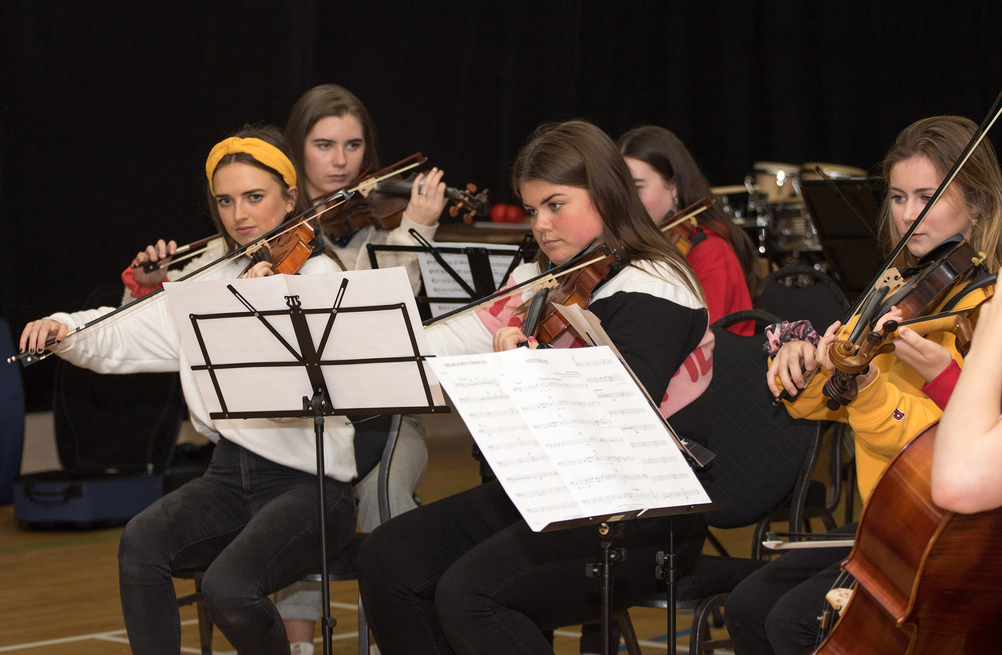 Symphonic Waves Youth Orchestra Clonbur Rehearsal