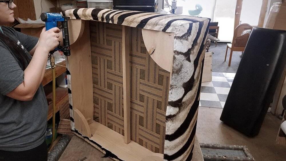 zebra ottoman making
