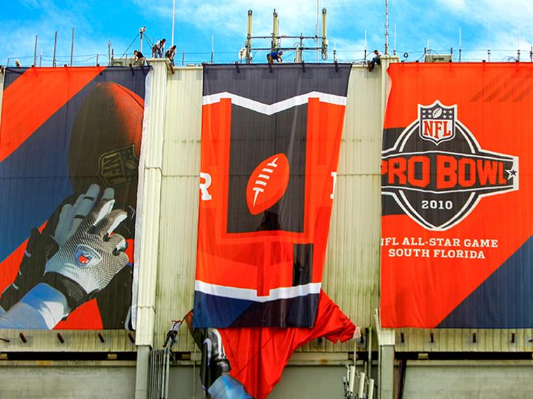 Pro Bowl Banner Installation