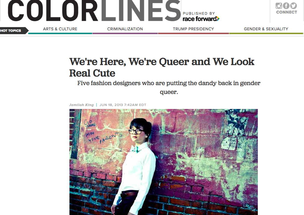 ColorLines - We're Here, We're Queer and We Look Real Cute