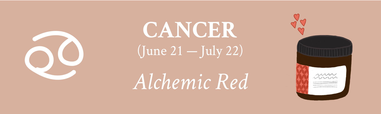 Cancer Davines zodiac Alchemic Red Conditioner