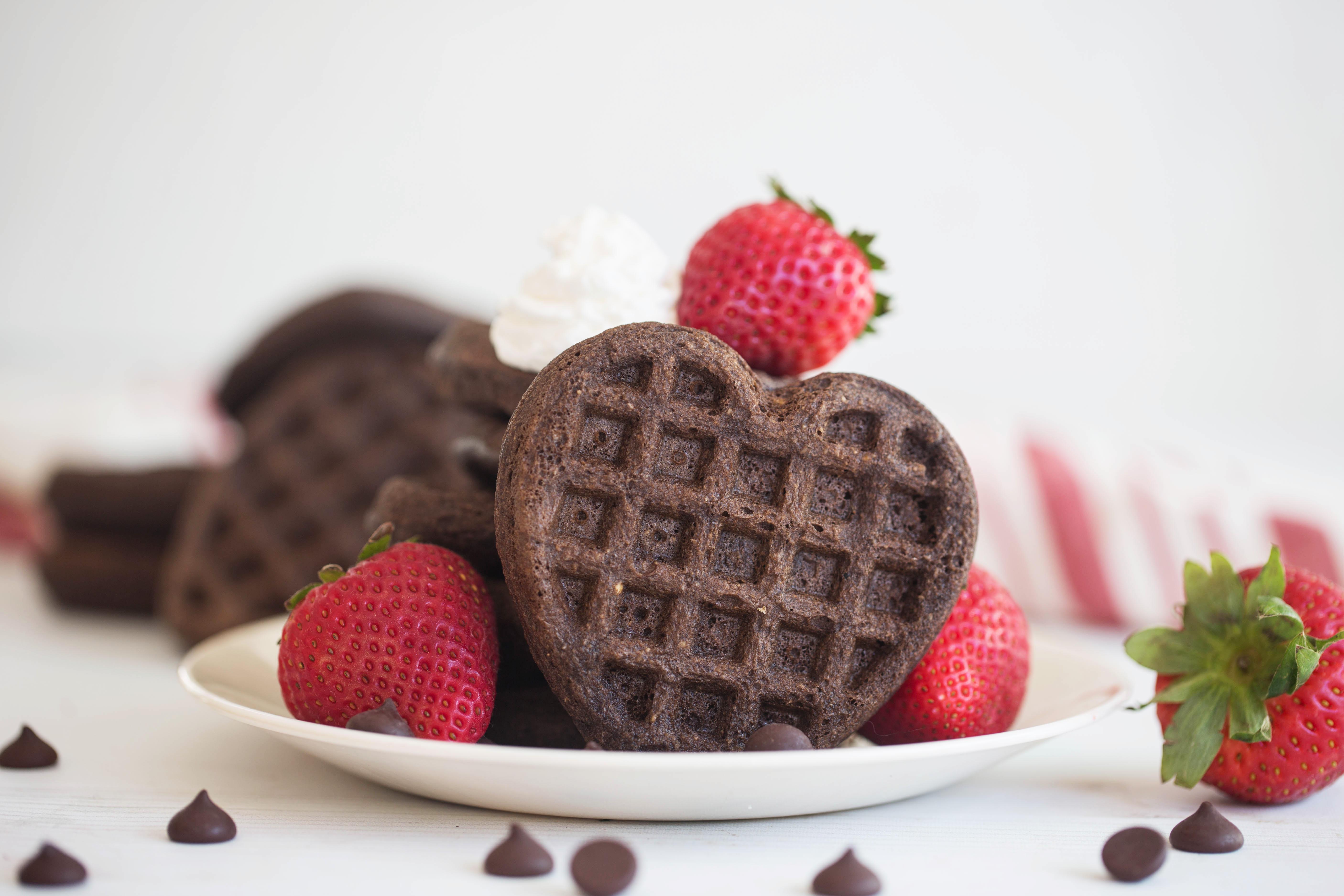 chocolate collagen waffles