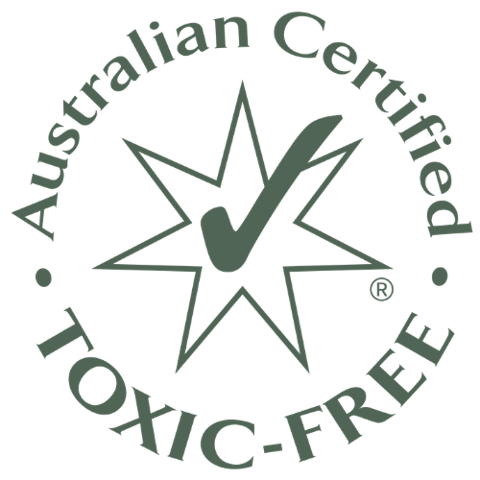 Bamboo Nappies and Water Wipes are Australian Certified Toxic Free by Safe Cosmetics Australia
