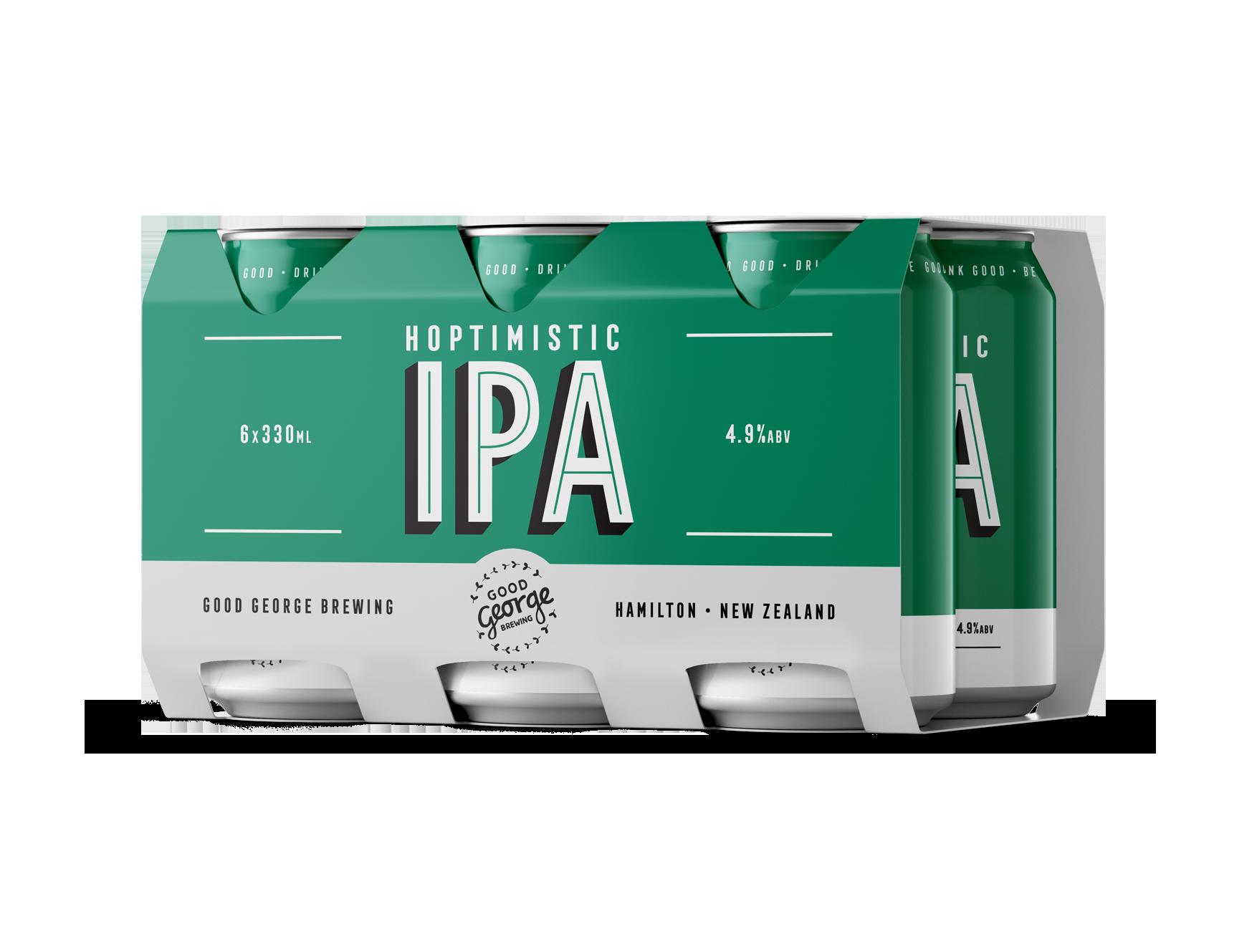 Good George Hoptimistic IPA Six Pack Cans