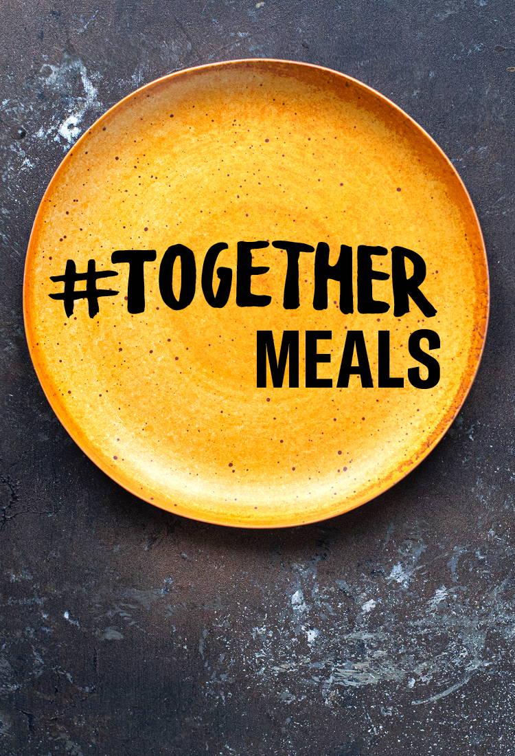 #TOGETHERMEALS logo on plate