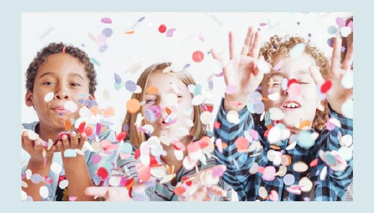 kindergeburtstag papierschnipsel wegpusten