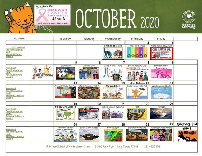 october calendar nmc