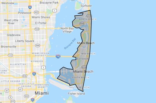 skyview of Miami Beach