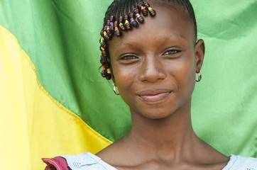 african girl smilling