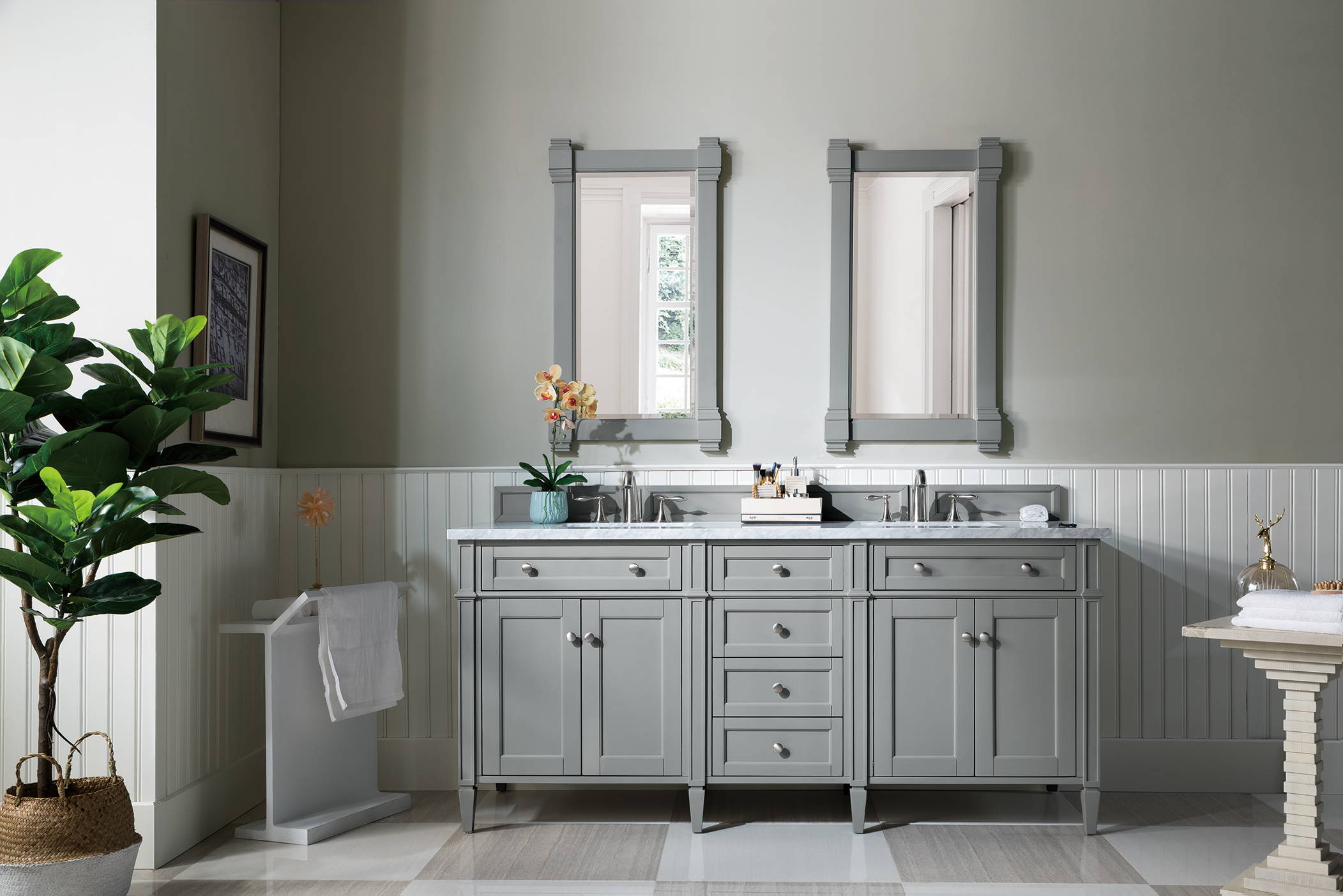 Brittany 72 Double Vanity Urban Gray