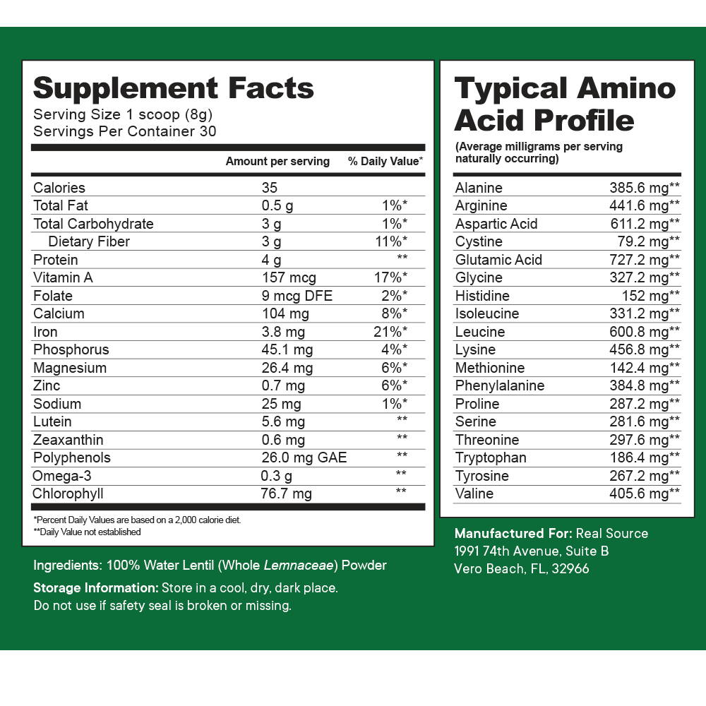 Water Lentil Superfood - Made with LENTEIN® - Pure