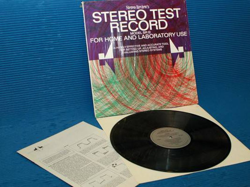"STEREO REVIEW -  - ""Stereo Test Record"" - Model SR-12  1969"