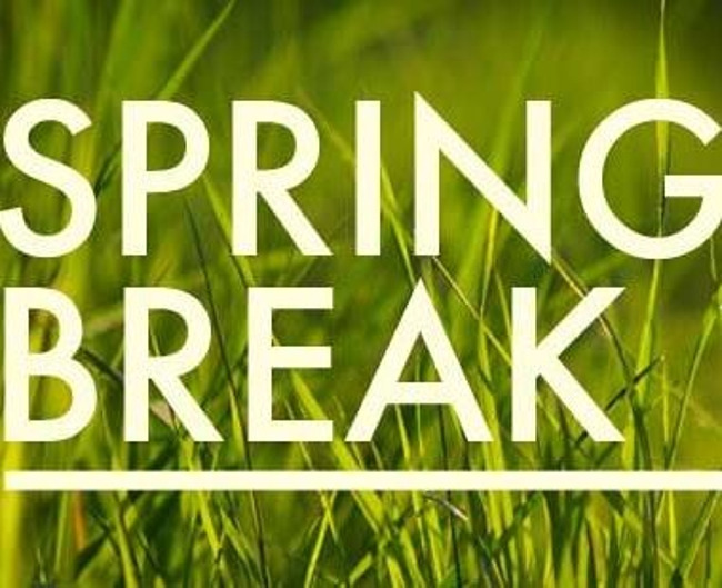 Spring Break Fun Themed Week! Monday March 15th to Friday March 19th!