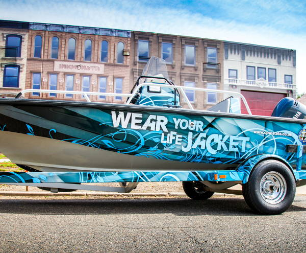 Vinyl Vehicle Wraps - Boat Wrap