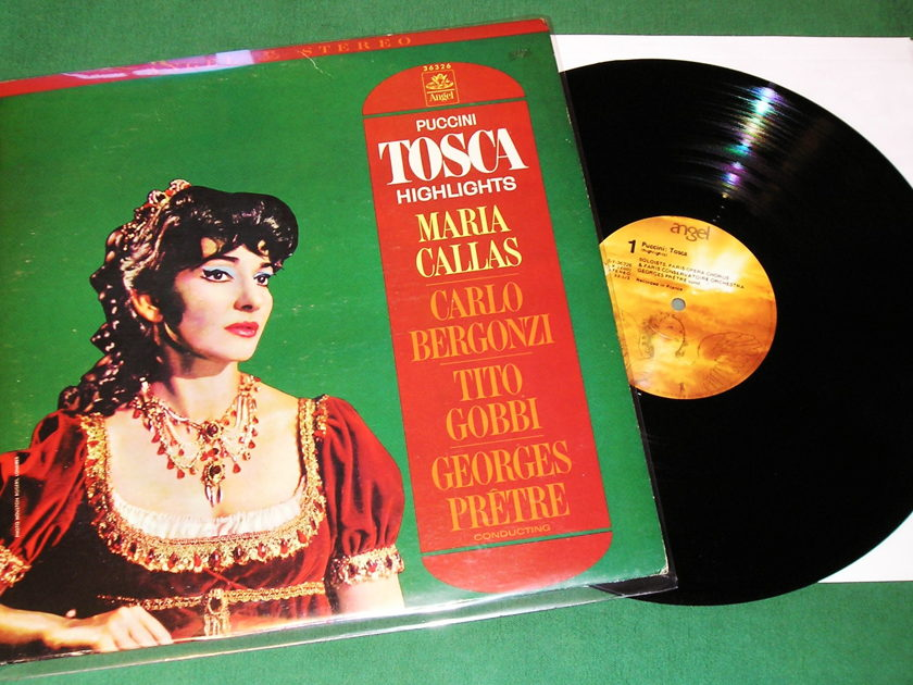 MARIA CALLAS - PUCCINI TOSCA HIGHLIGHTS - * ANGEL US PRESS - RECORDED IN FRANCE * NM 9/10 *