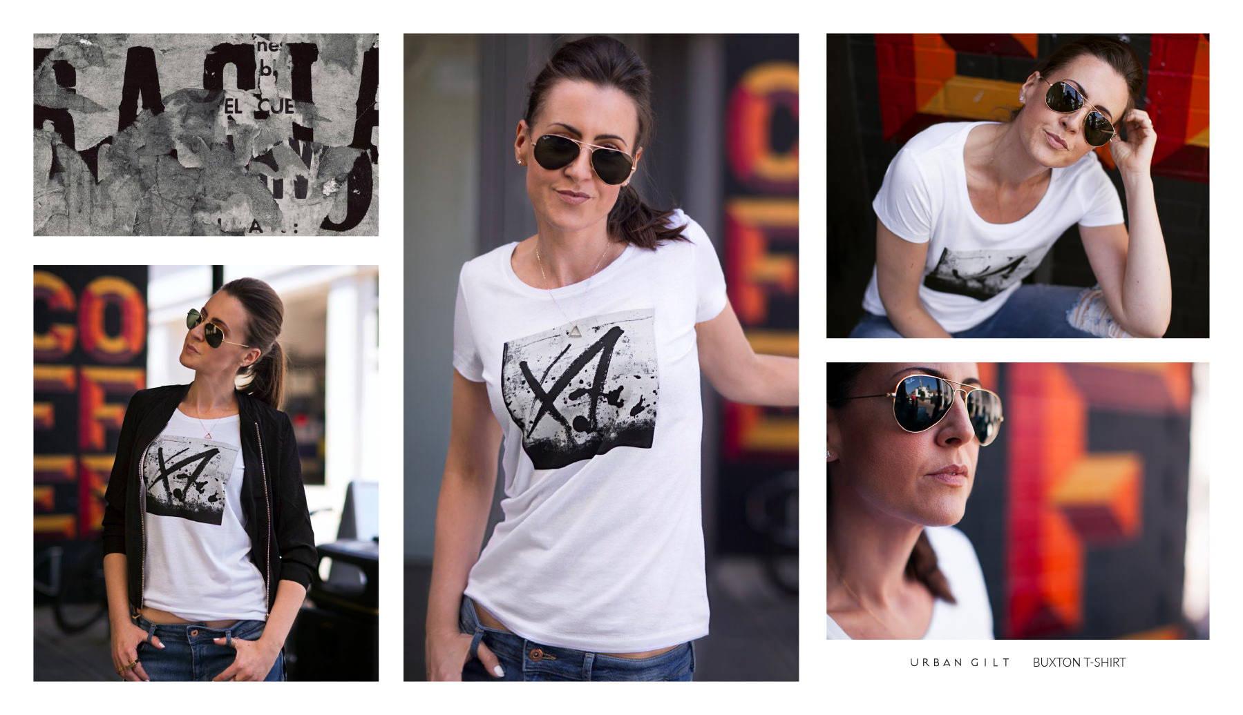 Urban Gilt Lookbook | Urban Textures | Buxton T-shirt