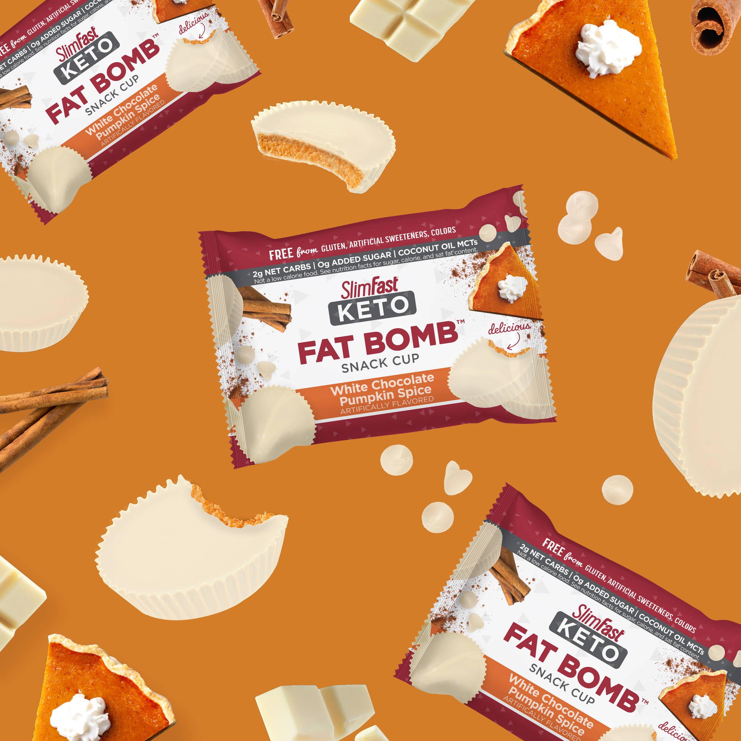 Keto Fat Bomb White Chocolate Pumpkin Spice  package