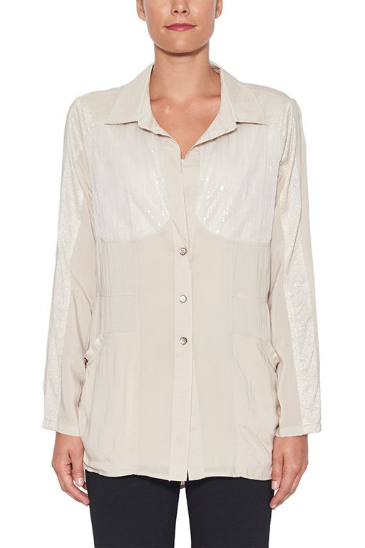 CLARITY LUREX POCKET SHIRT