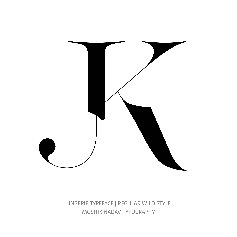 Lingerie Typeface Regular Wild JK ligature