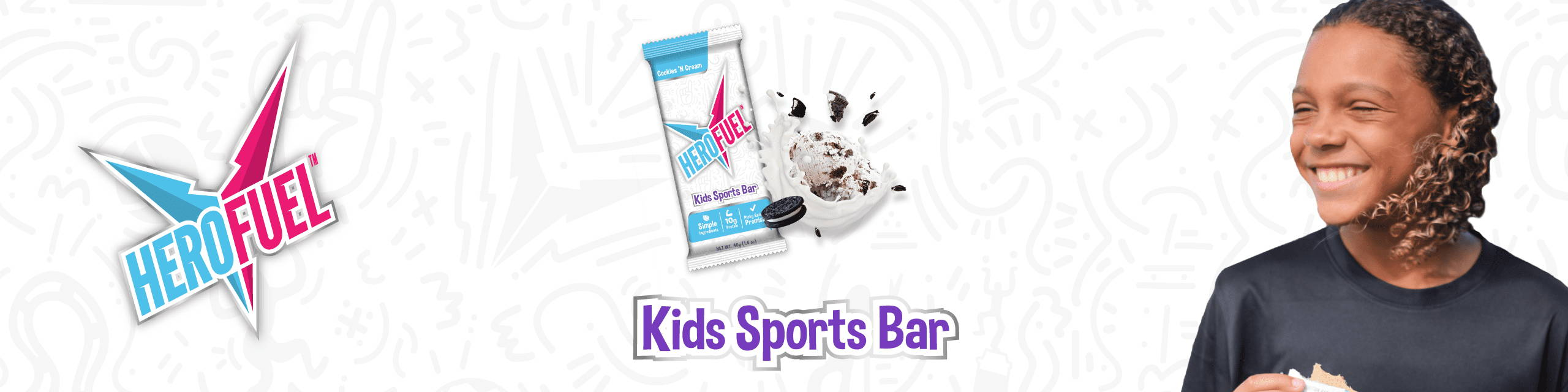 Herofuel- Kids Sports Bar