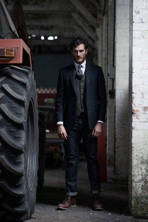Tractor country clothing, tweed, suit, style, styling