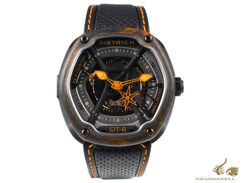 DIETRICH OT-6 AUTOMATIC WATCH, PVD, GREY, 46MM, FORGED CARBON