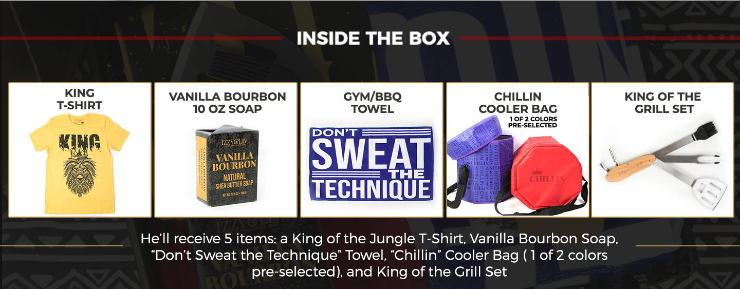 Inside The King Gift Box - 5 Items!