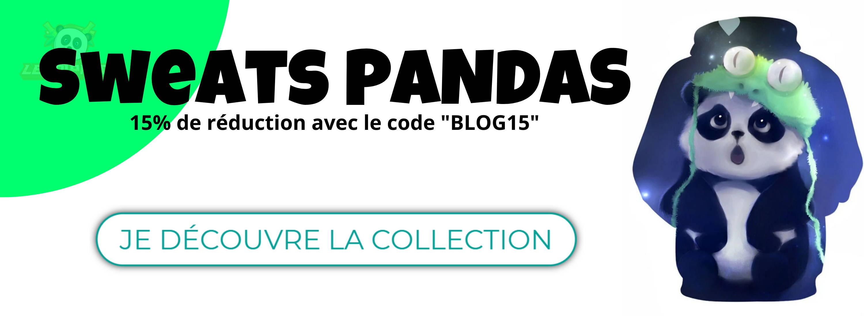 collection de sweat panda